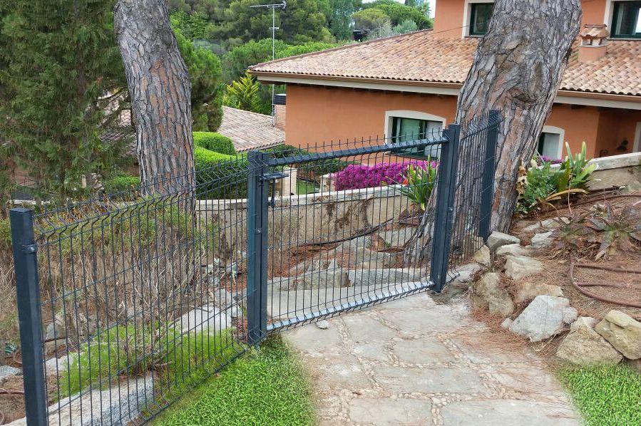 Puerta para jardín