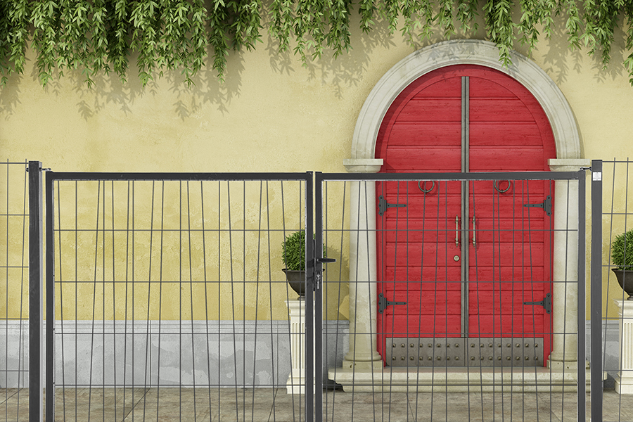Puerta Panel Exotic casa puerta roja