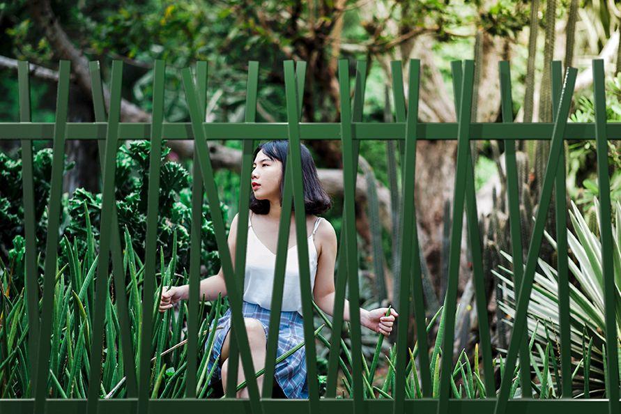 Verja Bali jardín