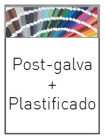 post galvanizado más plastificado