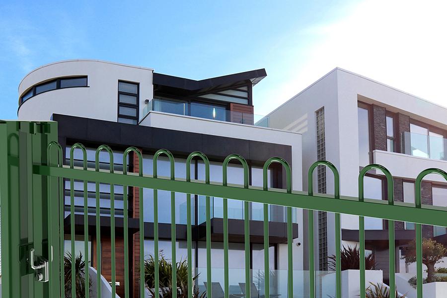 Puerta Corredera Pro Ondas Plus casa blanca