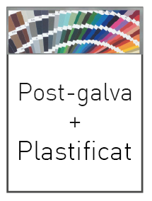 Post galva i plastificat